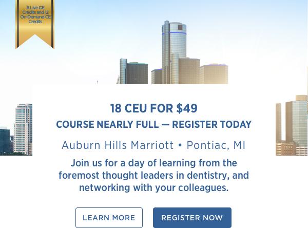 18 CEU for $49 Course Nearly Full — Register Today   Auburn Hills Marriott • Pontiac, MI